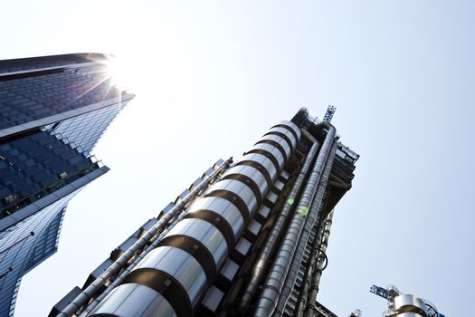 Lloyds building from below