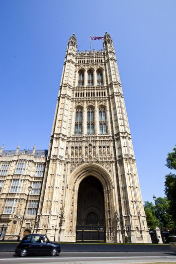 Houses of parliament from below