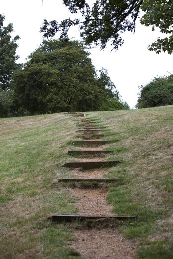 Path of stairs in British Park