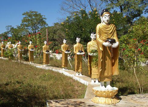 Buddha and his followers, Myanmar