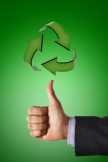 Thumbs up for Recycling