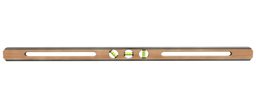 3D digital render of a level tool isolated on white background