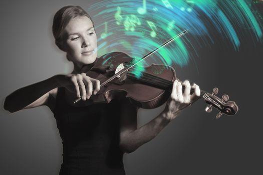 Woman playing Violin