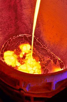 molten metal from blast furnace