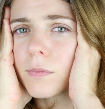 Attractive Woman showing signs of stress