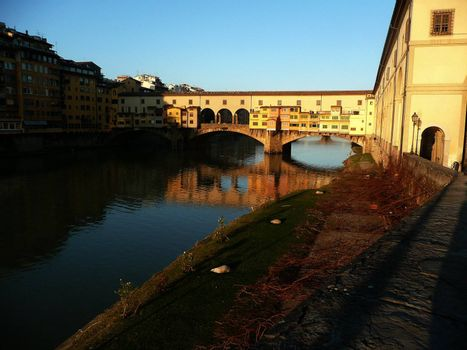 View over Ponte Vecchio, Florence, Italy