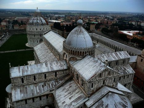 Panorama from the Leaning Tower, Pisa, Italy