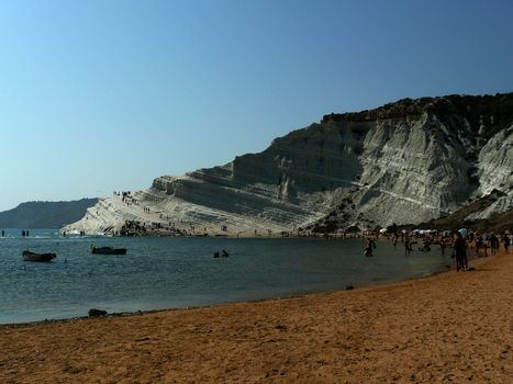 The Rocky White Cliffs named Stair of the Turks, Sicily, Italy