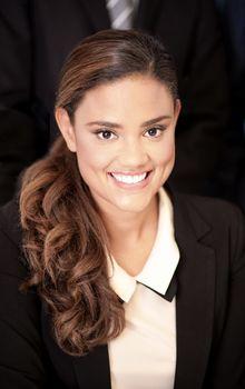 Attractive calm businesswoman
