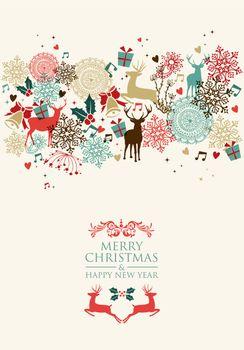 Merry Christmas postal card transparency