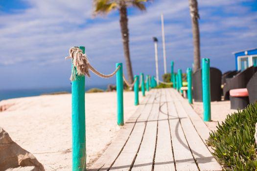 Wooden Walkway to the sandy beach