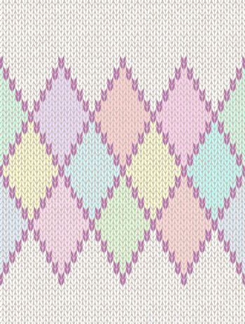 Seamless Pattern. Knit Woolen Baby Ornament Texture. Fabric Color Tracery Background