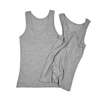 two grey shirts