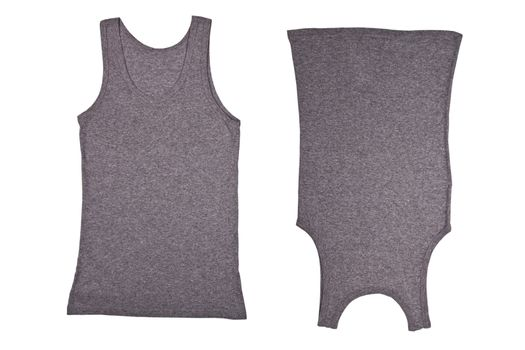 two gray shirts