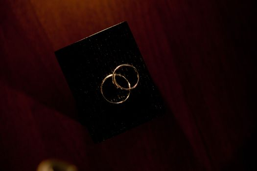 wedding rings on the box