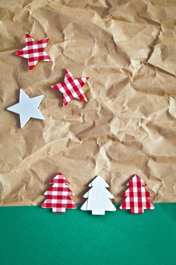 Little christmas trees on paper