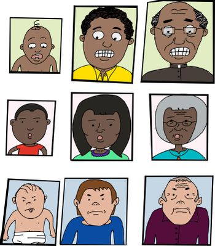 Aging Process Cartoon