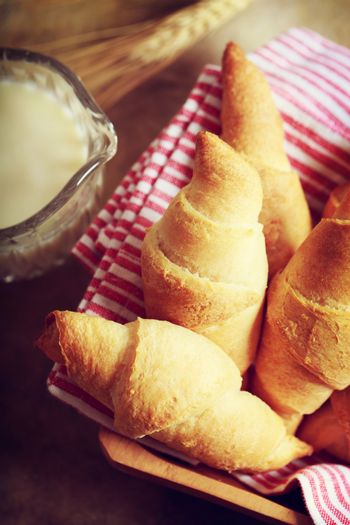 Croissant with milk and wheat