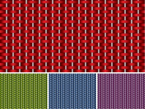Seamless texture set  in four different colors