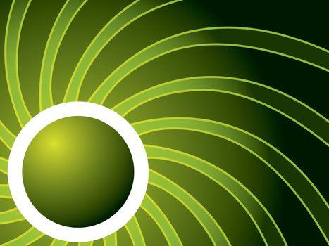 Swirl in green