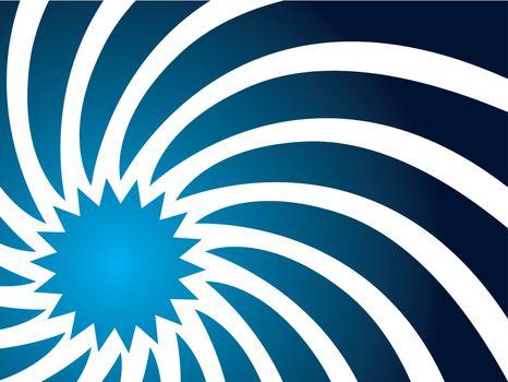 Swirl in blue