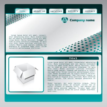 Web template with abstract bacground and place for text