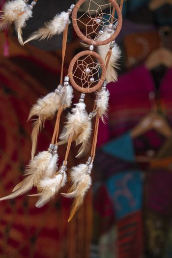 feathered wind chimes flowing