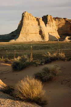 Sandstone Rock Formation Desert Lake Powell Utah Arizona Border
