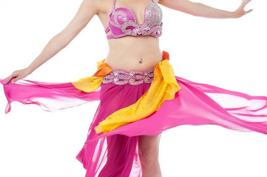 Beautiful belly dancer in action