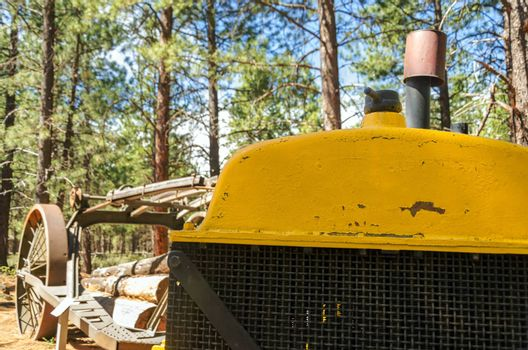 Old logging machinery in Bend, Oregon