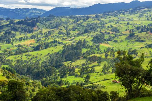 General view of the countryside in Cundinamarca, Colombia