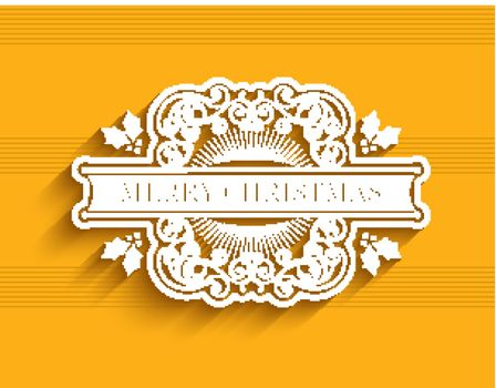 Christmas typographic label
