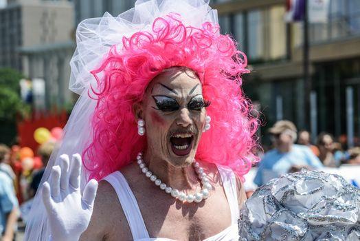 Minneapolis, Minnesota - June 30: Twin Cities LGBT Pride Parade 2013, in Minneapolis,MN, on June 30, 2013.