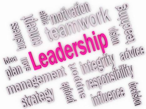 Leadership skill concept, 3d imagen