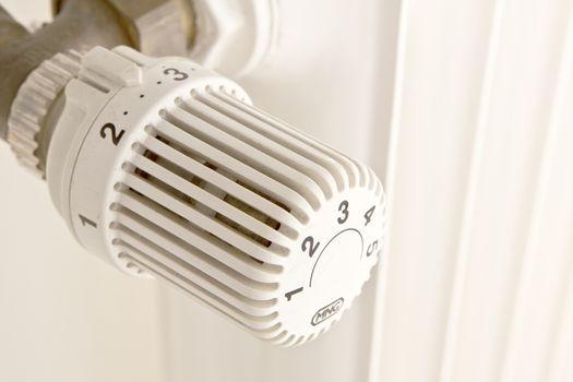radiator in winter