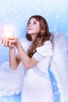 Beautiful angel praying