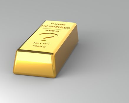 Gold bar on the Gray Background