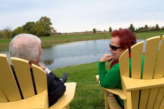 Senior Couple Enjoying Their Togetherness