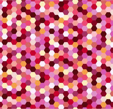 seamless colorful pink spots pattern