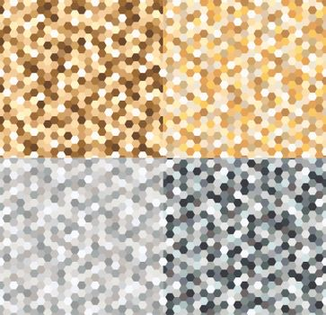 seamless gold and silvery spots pattern