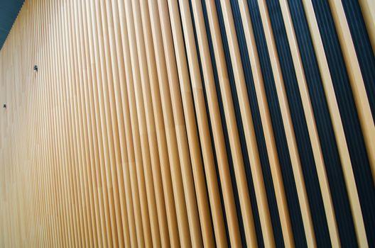 wooden fin of modern building