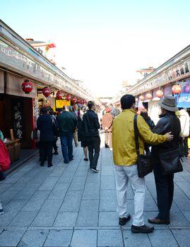 TOKYO, JAPAN - NOV 21: Arcade at Senso-ji, the symbol of Asakusa