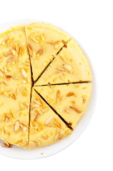 Top view of sweet pie