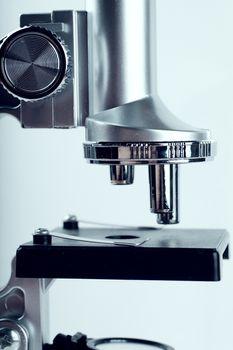 Closeup view of microscope