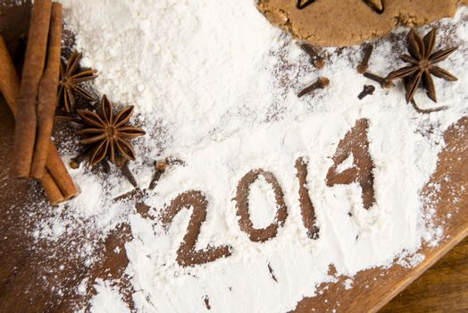 The inscription on the flour - 2014