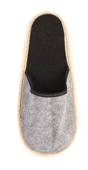 Gray slipper on a white background.