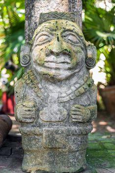 Ancient pre-columbian statue in Cartagena, Colombia