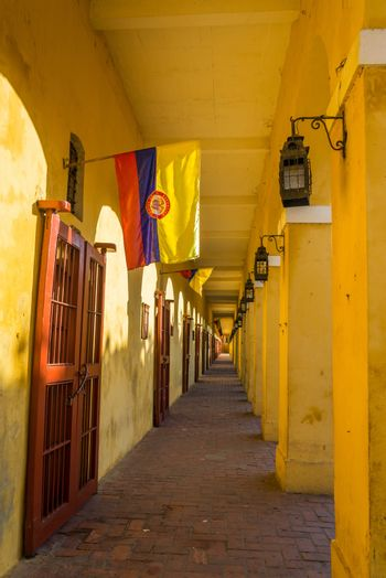Passageway in Cartagena, Colombia known as Las Bovedas in the old center of the city