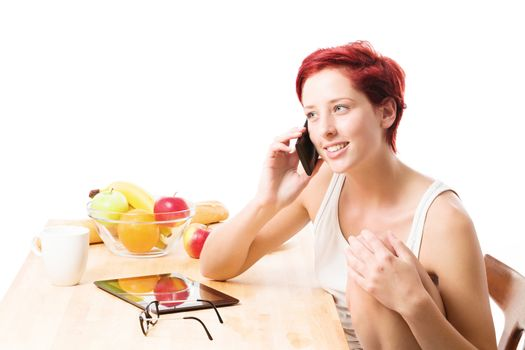 phone call at breakfast
