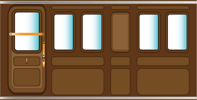 A background consisting of a steam train carriage.